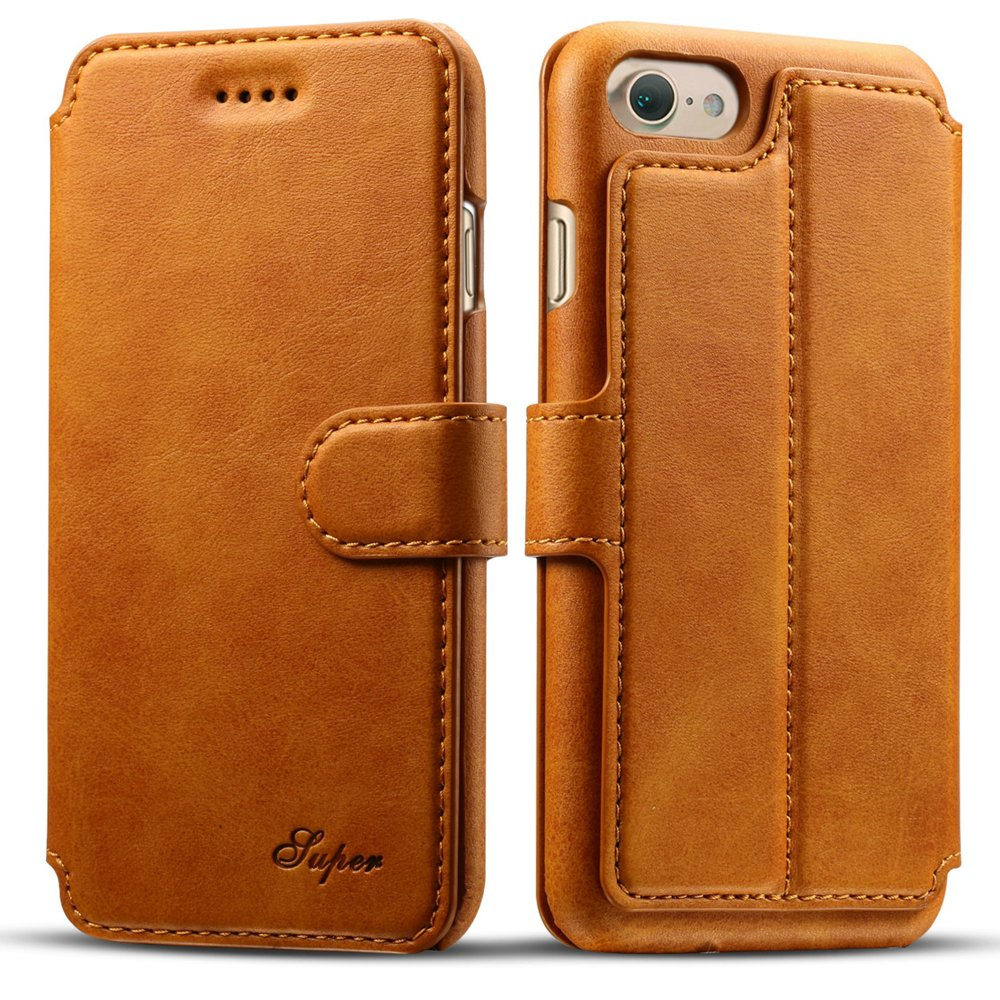 iPhone 7 Wallet Synthetic Leather Folio Flip Case