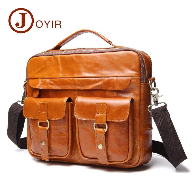 Oil Wax Vintage Style Shoulder Messenger Bag