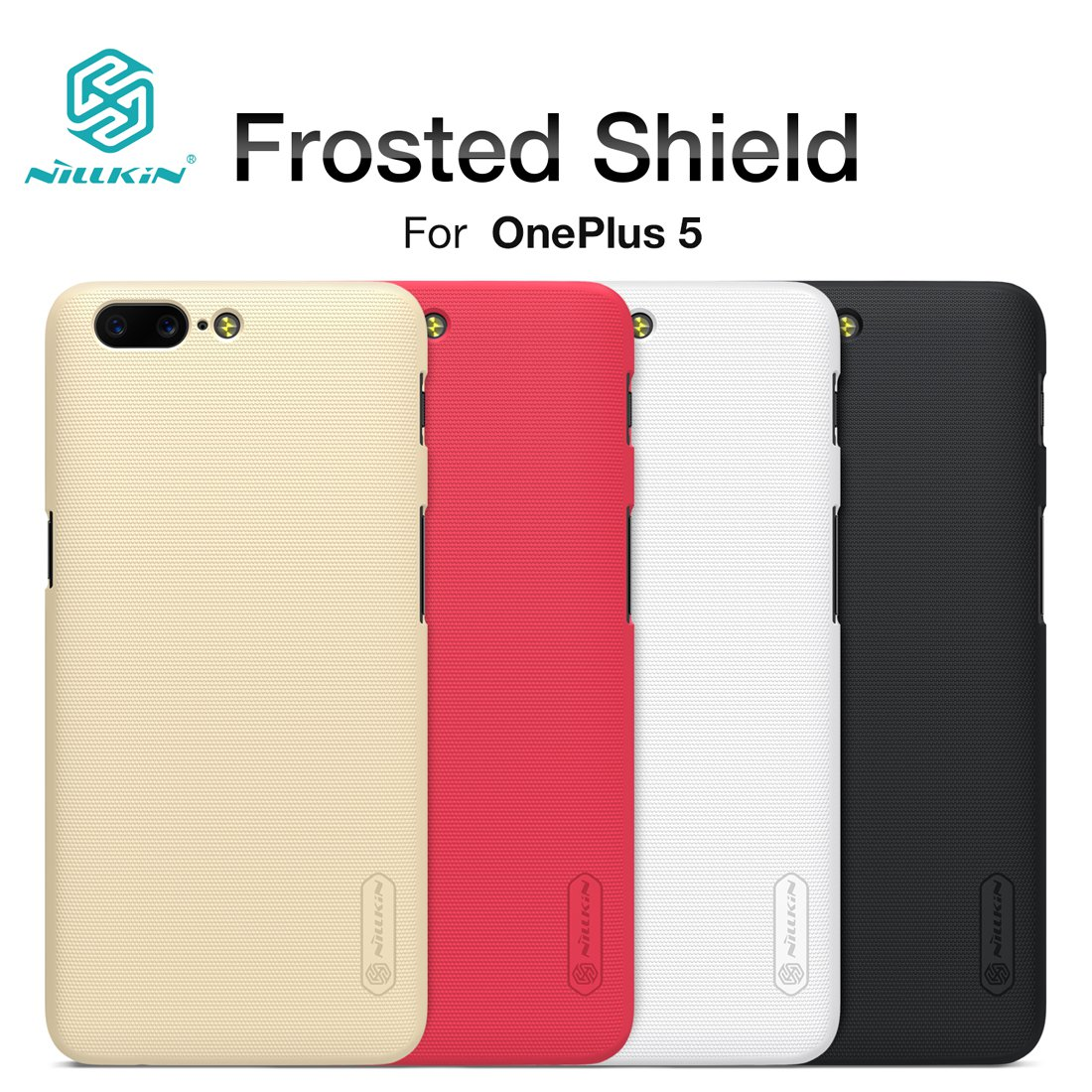 Nillkin Frosted Shield Matte Case for OnePlus 5 Case Cover (Black)