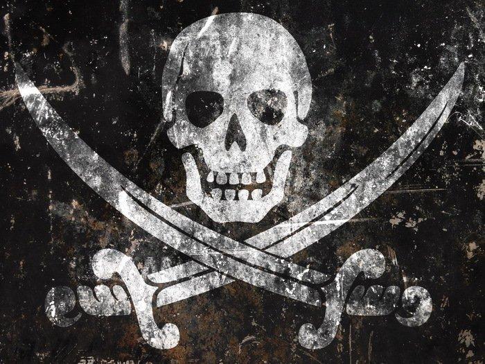 Jolly Roger Pirate Flag Skull Art 24x18 Print Poster