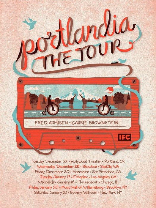 Portlandia Tour Big Fred Armisen Carrie Brownstein 24x18 Print POSTER