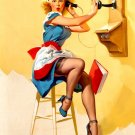 Sexy Hot Girl Painting Vintage Retro Art 24x18 Print Poster