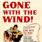 Gone With The Wind Painting Art Retro Movie 24x18 Print Poster