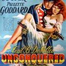 Unconquered Gary Cooper Movie Art Vintage 24x18 Print Poster