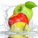Apples Water Splashes Fruits Macro Food 24x18 Print Poster