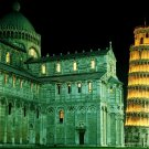Leaning Tower Pisa Italy Night Lights 24x18 Print Poster