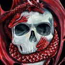 Red Dragon And Skull Art 24x18 Print Poster