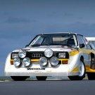 Audi Quattro Racing Retro Car 24x18 Print Poster