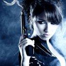Hot Girl With Guns Weapon Smoke 24x18 Print Poster