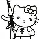 Hello Kitty Punisher Cool Art 24x18 Print Poster