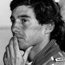 Ayrton Senna Racing Driver Portrait BW 24x18 Print Poster