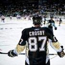 Sidney Crosby Pittsburgh Penguins Back NHL 24x18 Print Poster