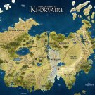 Khorvaire Eberron Dungeons Dragons Map 24x18 Print Poster