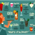 Alcohol Cocktails Drinking Guide 24x18 Print Poster