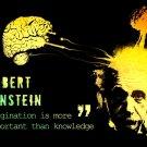 Albert Einstein Quote Inspirational Science 24x18 Print Poster