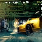 Ford Mustang Muscle Car Crash Art 24x18 Print Poster