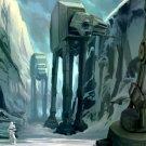 AT AT Hoth Patrol Star Wars Art 24x18 Print Poster