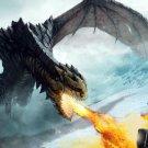 Knight Vs Dragon Fire Fantasy Art 24x18 Print Poster