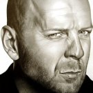 Bruce Willis Art Portrait Movie Actor 24x18 Print Poster