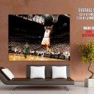 Lebron James Dunk Miami Heat Nba Huge Giant Print Poster