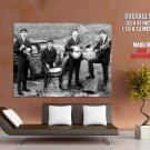 The Beatles Music Bw Huge Giant Print Poster