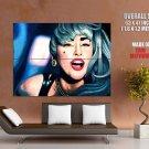 Lady Gaga Portrait Painting Art Singer Music Huge Giant Print Poster