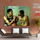 Magic Johnson George Gervin Nba Huge Giant Print Poster
