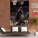 Le Bron James Dunk Nba Basketball Huge Giant Print Poster