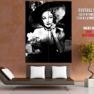Marlene Dietrich Bw Actress Vintage Movie Huge Giant Print Poster
