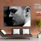 Justin Timberlake Hot Bw Portrait Music Huge Giant Print Poster