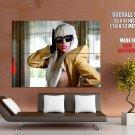 Lady Gaga Singer Sunglasses Music Huge Giant Print Poster
