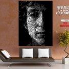 Bob Dylan Text Portrait Words Music Huge Giant Print Poster