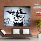 Mona Lisa Grenade Launcher Banksy Graffiti Street Art Huge Giant Print Poster