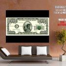 Million Dollar Note Money Cool Huge Giant Print Poster