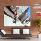 Skater Boy City Street Tilt Cool Huge Giant Print Poster