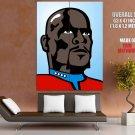 Star Trek Benjamin Sisko Vector Art Huge Giant Print Poster
