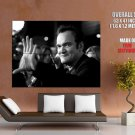 Quentin Tarantino Director Actor Bw Huge Giant Print Poster
