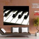 Piano Keyboard Macro Music Art Huge Giant Print Poster