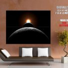 Sun Earth Moon Eclipse Space Huge Giant Print Poster