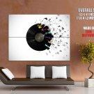 Vinyl Disc Record Blast Music Art Huge Giant Print Poster