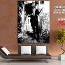 Lee Harvey Oswald Original Backyard Photo Rifle Outlaw Huge Giant Poster