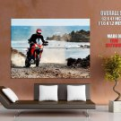 Ducati Sea Nature Sport Bike Motorcycle Huge Giant Poster