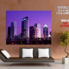 Tampa Florida Skyline Purple Sunset Around The World Huge Giant Poster