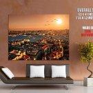 Istanbul Turkey City Sunset Around The World Huge Giant Poster