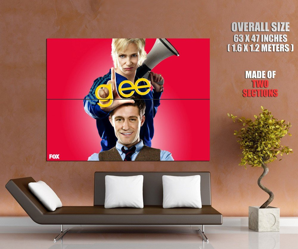 Glee Matthew Morrison Jane Lynch Tv Series Huge Giant Poster