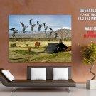 Motorbike Trick Extreme Stunt Jump Africa GIANT 63x47 Print Poster