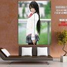 Kipi Hot School Girl Brunette Japanese Cosplay GIANT 63x47 Print Poster