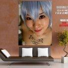 Meguro Nuko Ayana Close Face Hot Girl Japanese Cosplay GIANT 63x47 Print Poster