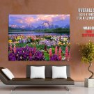 Grand Teton Wildflowers Wyoming Colorful Nature Huge Giant Poster
