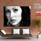 Christina Aguilera Bw Portrait Singer Huge Giant Print Poster